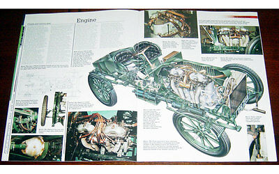 Napier 45HP Gordon Bennett Racer Fold-out Poster + Cutaway Drawing