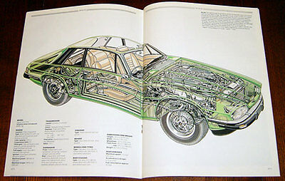 Jaguar XJS - technical cutaway drawing