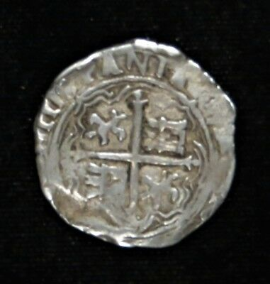 1555-1665 Spain Silver Cobb 2 Reales Coin Phillip II - IIII Pirate $$