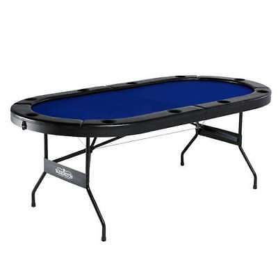 Barrington 10 Player Poker Table w/ Padded Rails & Cup Holders (Damaged)