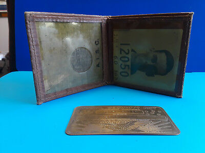 Vintage Social Security Card, Photo ID And Wallet.