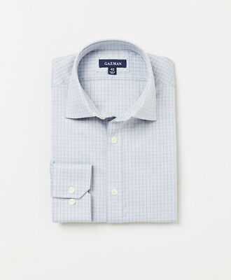 Gazman Men's Classic Line Check Fitted Business Shirt