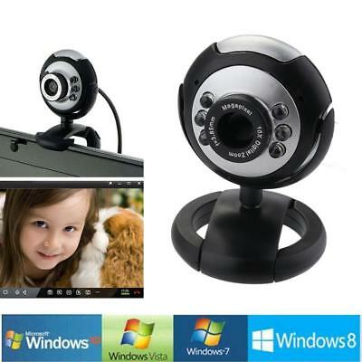12MP 6 LED USB Night Vision w/Mic Webcam Skype Cam Camera For PC Laptop Computer