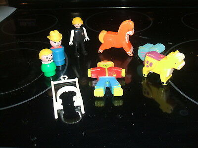 Vintage Toy Plastic Farm Animals Scarecrow and other various items