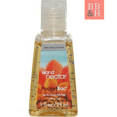 NEW Original Bath & Body Works Island Nectar - PocketBac Hand Sanitiser Gel