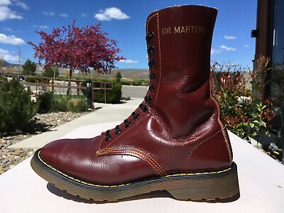 70s Vintage Dr Martens US 8 boot Solovair 1490 oxblood 10eye cherry red 1460 uk7
