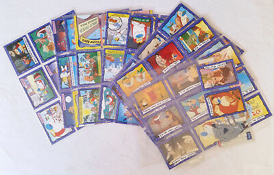 111x Ren and Stimpy Cards Complete Set Lot Dynamic 1995 and Kitty Litter Acetate