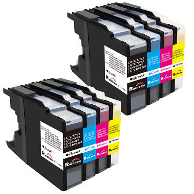 8 pk LC75 LC-75 Ink Set for Brother MFC-J6910 DW CDW MFC-J5910 CDW DW MFC-J705DW