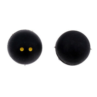 2 Pcs Ball Shape Silicone Vibration Dampener for Tennis/Squash Racquet Black