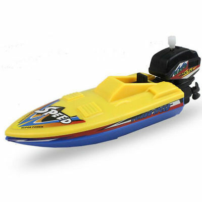 Wind Up Boat Ship Float In Water Educational Summer Bathing Baby Kids Toys New