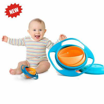 Universal 360 Degrees Rotates Spill Proof & No Mess Gyro Bowl for Kids & Infants