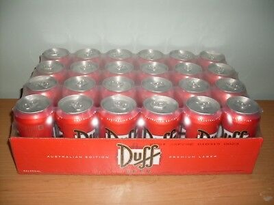 Duff the Simpsons Beer Unopened slab 24 cans Highly Collectible Man Cave Item