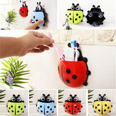 Cartoon Kids Toothbrush Ladybug Toothpaste Holder Stand Dispenser Decorations