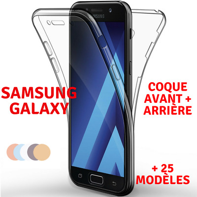 Coque Full TPU Silicone Avant+ Arriere Samsung Galaxy S9/S8/A3/A5/J3/J5/J7/Note