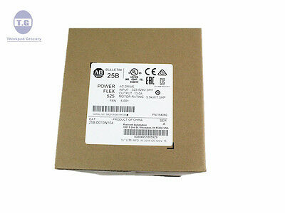 New Sealed Allen Bradley 25B-D013N104 PowerFLEX 525 7.5HP 25BD013N104