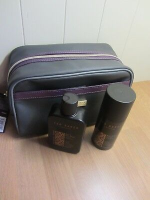TED BAKER Mens  Bath & Body Gift Set Travel Toiletry Bag ~ New ~ FREE P&P