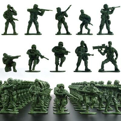 100x Military Soldiers Playset Toy 5cm Army Men Figures For Sand Scene Model