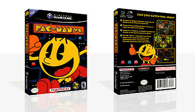 Pac-Man Vs. Replacement Spare Game Cube Case + Box Art Work No Game