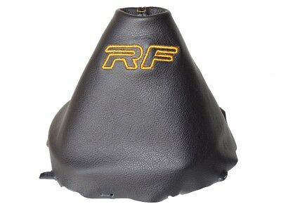 "Shift Boot For Mazda MX-5 Roadster ND MK4 2014-2018 Leather ""RF"" Tan Logo"
