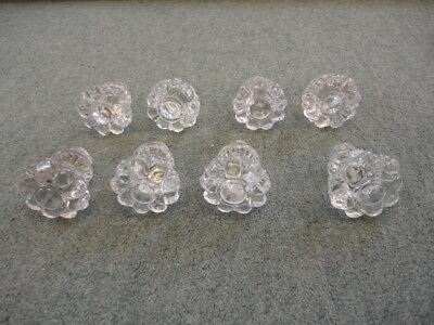 Set Of 8 Victorian Glass  Knobs
