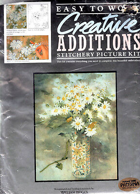 Vase Of Daisies Creative Additions Crewel Embroidery Kit Flowers FREE P&P (UK)