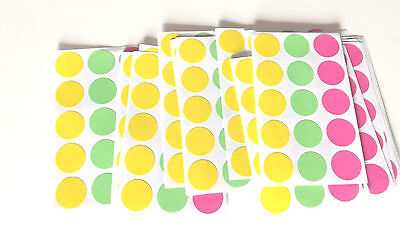 Blank 1215 Garage Yard Sale Rummage Stickers Price Label Neon See My Other Items
