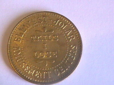 GAME TOKEN Ellwest-Jolar Amusement Centers Toy Gift Heads I Win Tails I Lose
