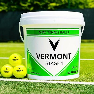 Vermont Mini Green Tennis Balls | Stage 1 | ITF Approved [Net World Sports]