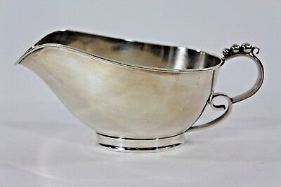 Danish Denmark Silverplate Creamer in the Style of Georg Jensen Anne Anka Estate