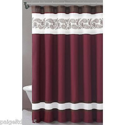 Essential Home Isabelle Fabric Shower Curtain 72 X