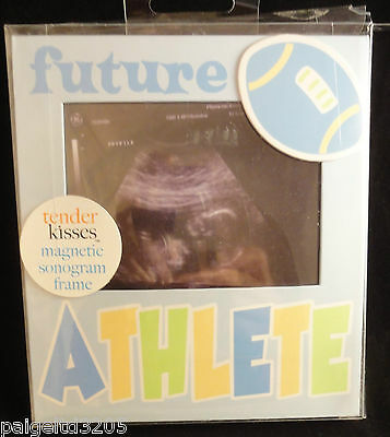 NEW Can Stand Baby Essentials UNDER CONSTRUCTION Boy Magnetic Sonogram Frame
