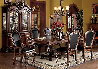 Formal Traditional Style Antique Design Dining Room Cherry Finish Dining Set 7pc
