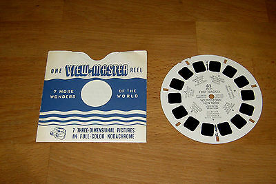 VIEW-MASTER - REEL SAWYER'S 83 - 1955 - OLD FORT NIAGARA NEW YORK + Hülle