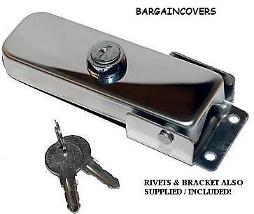 Stainless Steel 4X4 Wheel Cover Lock Latch And Key Set Heavy Duty AC04