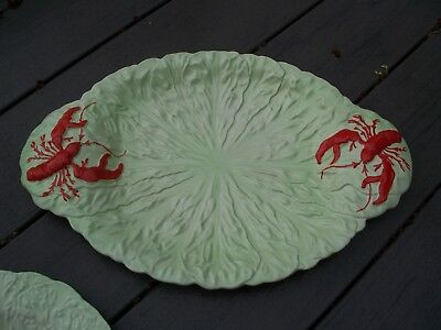 "Carlton Ware Hand Painted Lobster Lettuce Serving Platter-17x11""- England"