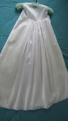Lace Retro Baby Christening Gown Petticoat White Hand Made Gorgeous Item LOOK