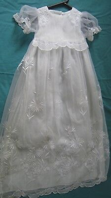 Lace Retro Baby Christening Gown Lace White HandMade Gorgeous Item LOOK Must SEE