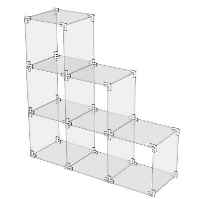 Modular Cube Display System -Clear Acrylic Retail Cube Stand- 200mm
