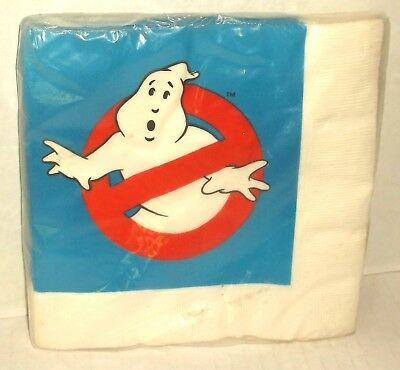 Hallmark THE REAL GHOSTBUSTERS cartoon logo PARTY NAPKINS PACKAGE 1986 SEALED