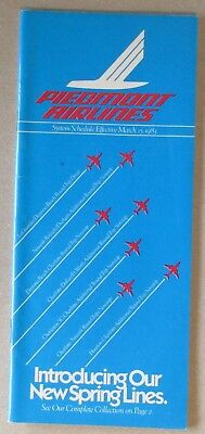 Piedmont Airlines 1983 System Timetable