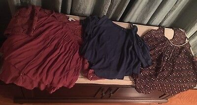 Lot of 3 Size Small Ladies Women's Tops Shirts American Eagle