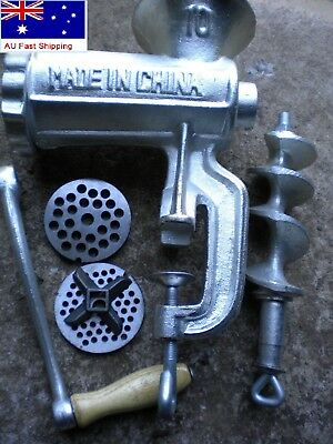 Meat Mincer Hand Operated #10, Cast Iron, Sausage Grinder,Mince Maker, Anti-rust