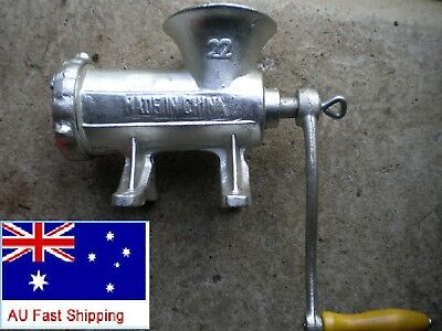 Meat Mincer Hand Operated #22, Cast Iron, Sausage Grinder, Mince Maker,Anti-rust