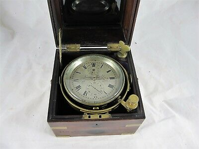 Fine Ships Chronometer Clock By Lewis Woolf Of Liverpool, C1850'S