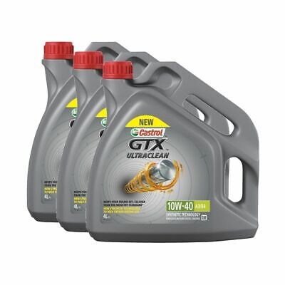 Castrol GTX Ultraclean 10W40 A3 / B4 Semi Synthetic Engine Oil - 12 Litres