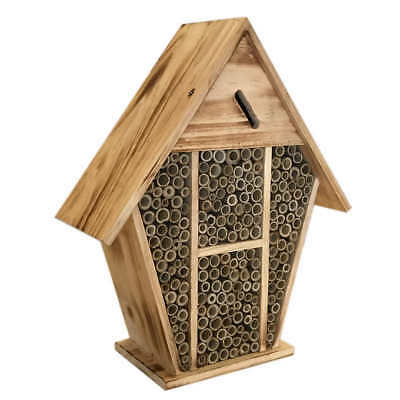 Swiss Alps Mason Bee House Large Wooden Insect Bee Hive Garden Nesting Box