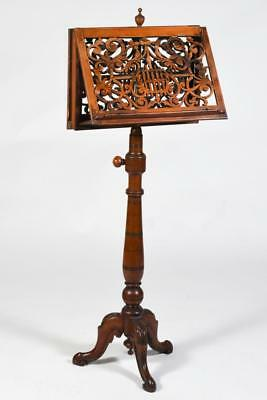 VICTORIAN WALNUT MUSIC STAND - US SUFFRAGIST OWNED Lot 427