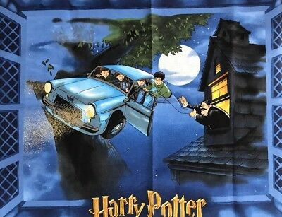 Wall Hanging Harry Potter Chamber Secrets Flying Car Rescue 4ftx3ft Printed Felt