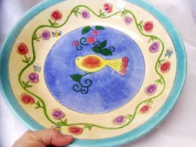 SANGO Sue Zipkin BIRDS AND THE BEES Rare PASTA-SALAD SERVING BOWL Excellent!