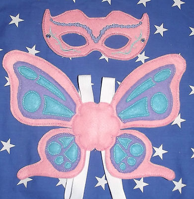 Kids Butterfly Mask & Wings - Costume, Dress up